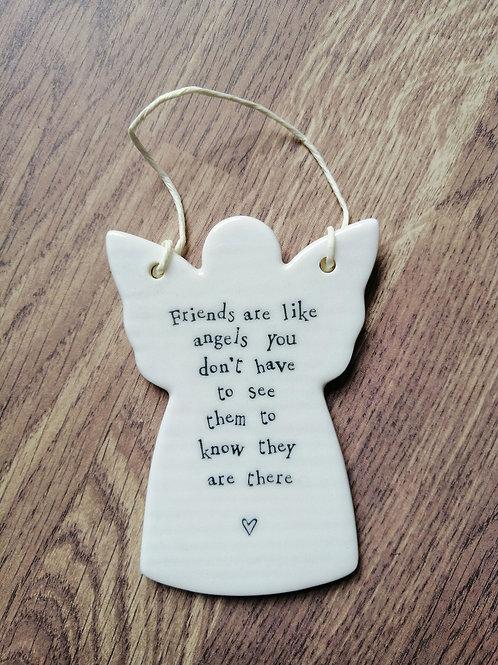 Friends are like - porcelain angel