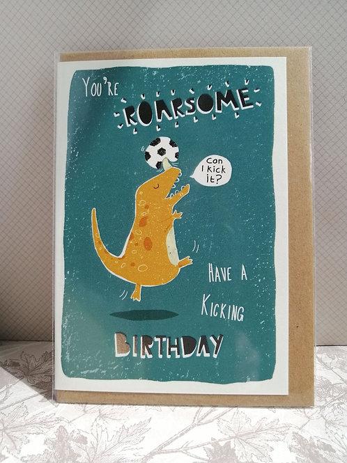 Roarsome birthday card