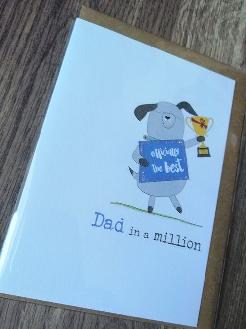 Dad in a million - Birthday / Father's Day card