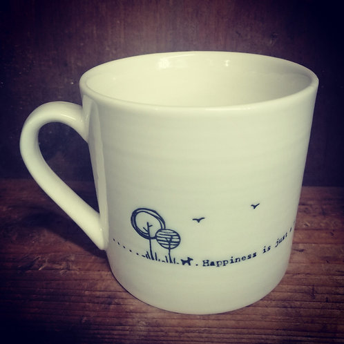East of India porcelain mug - Happiness is just a biscuit away