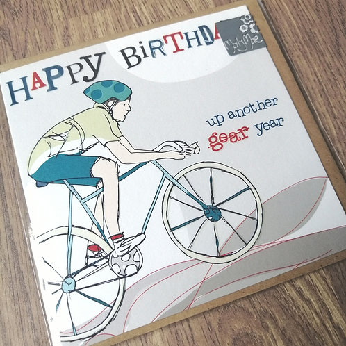Happy Birthday cyclist card