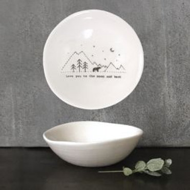 Moon and back - med ceramic bowl