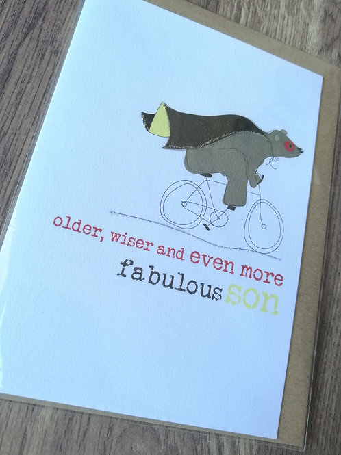 Older wiser fabulous Son card
