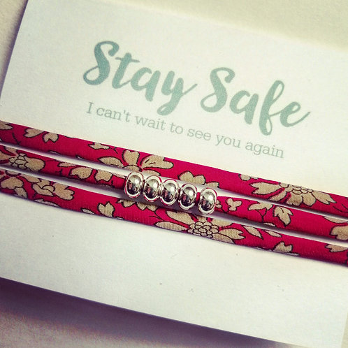 Stay Safe - Isolation bracelet - Liberty Tana Lawn Capel fabric