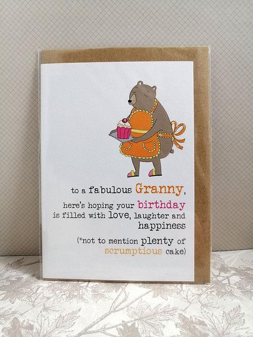 Fabulous Granny card
