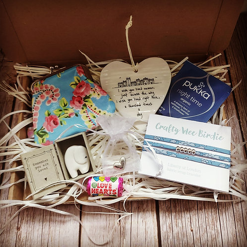 Letterbox care gift package - I wish you lived nearer - Blue