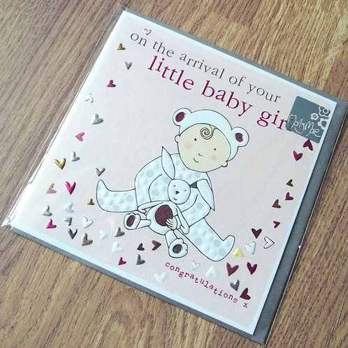 On the arrival of your little baby girl