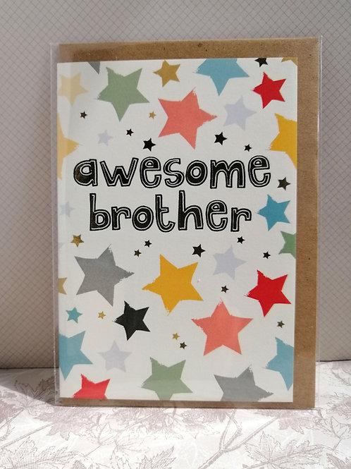 Awesome brother card