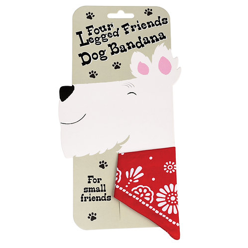 Small dog bandana Red or Navy