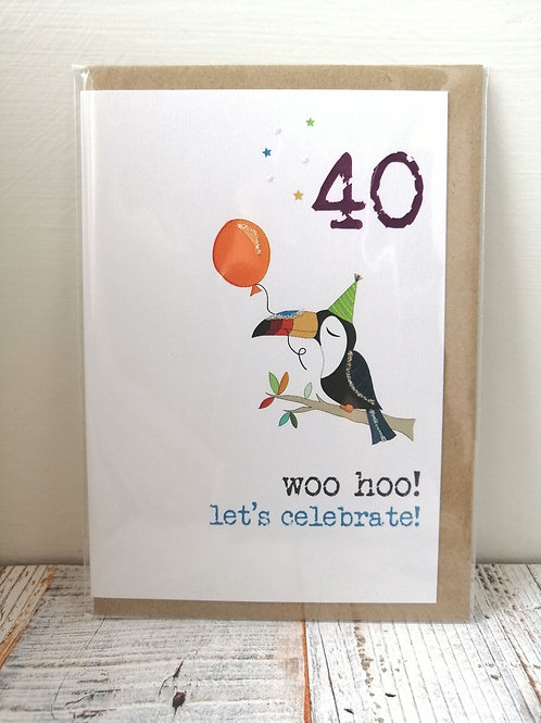 Woo Hoo - Birthday card  40, 50, 65, 80 WW520