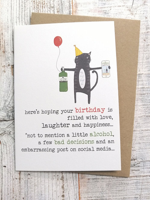 Birthday Card - filled with love