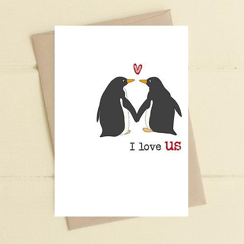 I love us  - card
