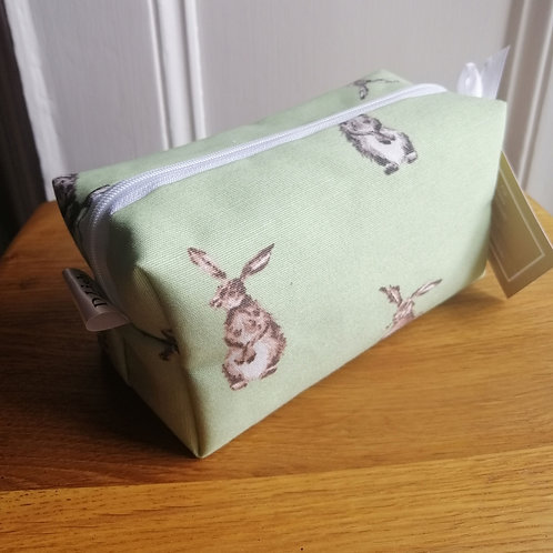 Cube style rabbit cosmetic bag