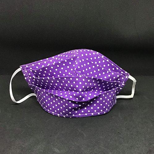 PRE ORDER purple pokadot adult face covering