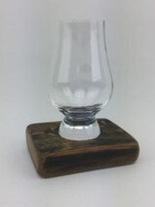 Single whisky glass base set