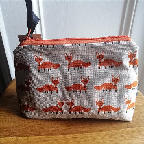Fox print make up bag