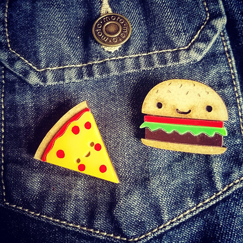 Pizza and burger brooch ( sold separately)