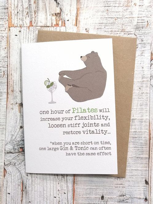 Birthday Card - one hour of pilates