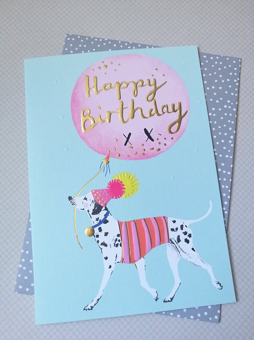 Dalmatian Happy Birthday card