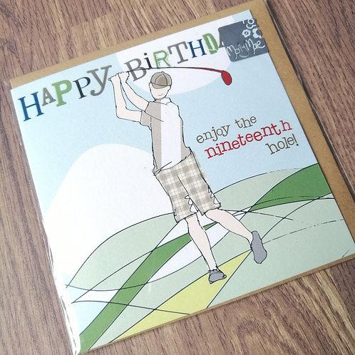 Happy Birthday golfer card