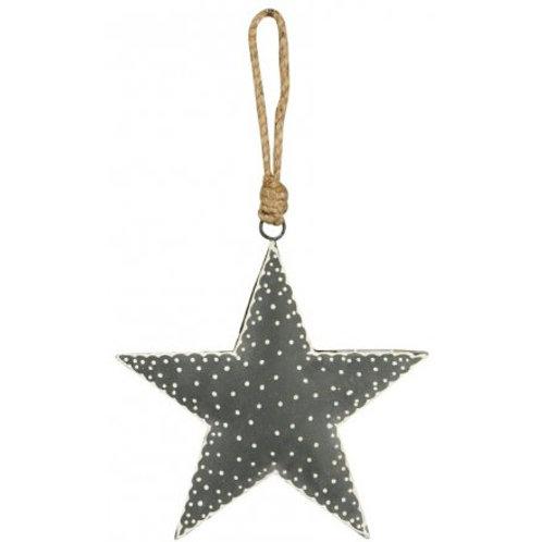 Hanging grey Nordic star