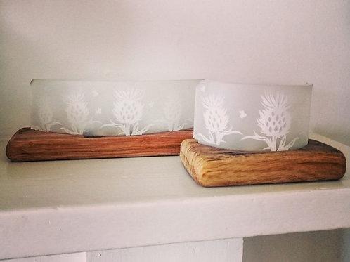 Thistle tea-light holders