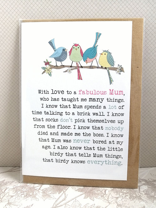 Fabulous Mum card