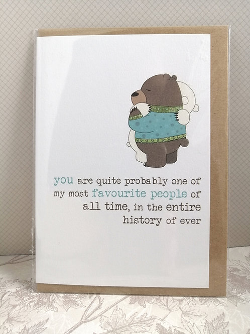 Favourite people of all time card