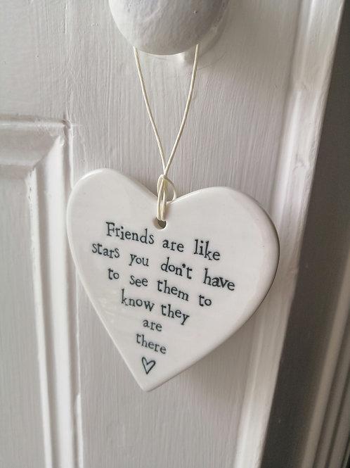 Friends are like stars - Porcelain Heart