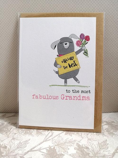 Fabulous Grandma card