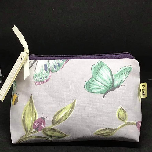 Butterfly  print make up bag