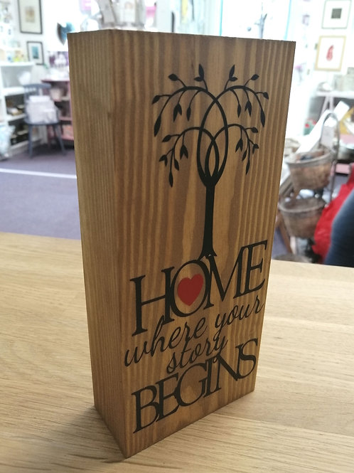 Home where your story begins - Block