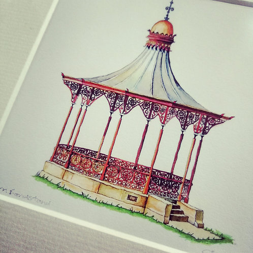 Heather Afrin print of Nairn Bandstand