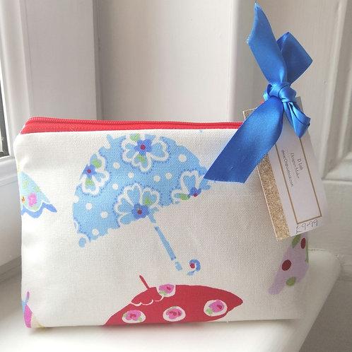 Umbrella Print Cosmetic Bag