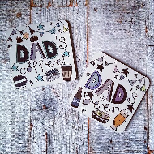 Dad coasters