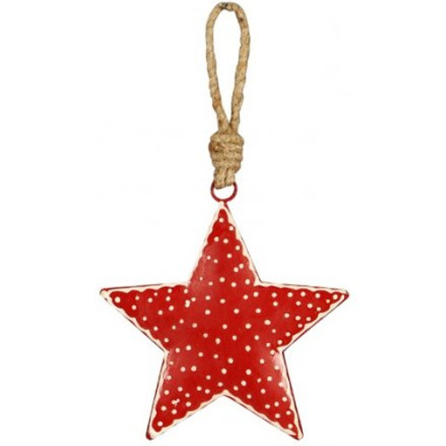 Red Norwich hanging star