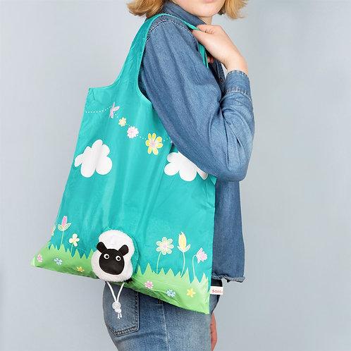 Sheep foldable shopper bag