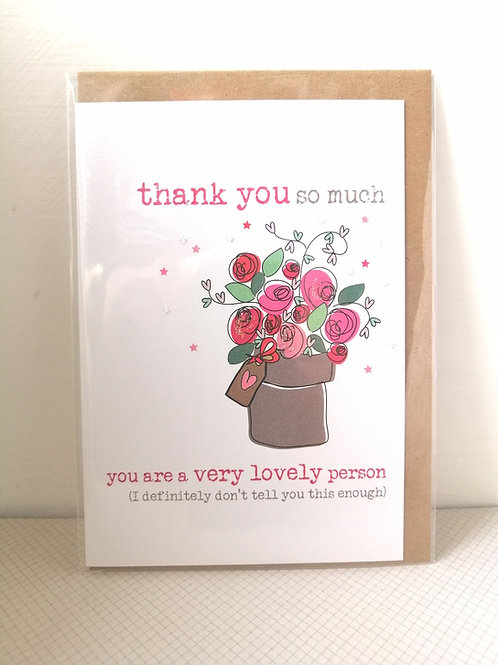 Flowers - Thank you so much card
