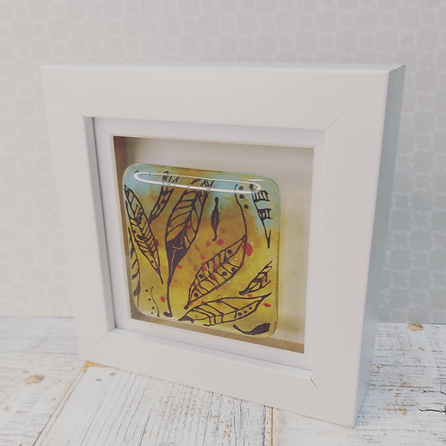 Small fused glass frame