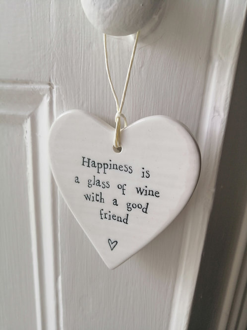 Happiness is a glass - Porcelain Heart