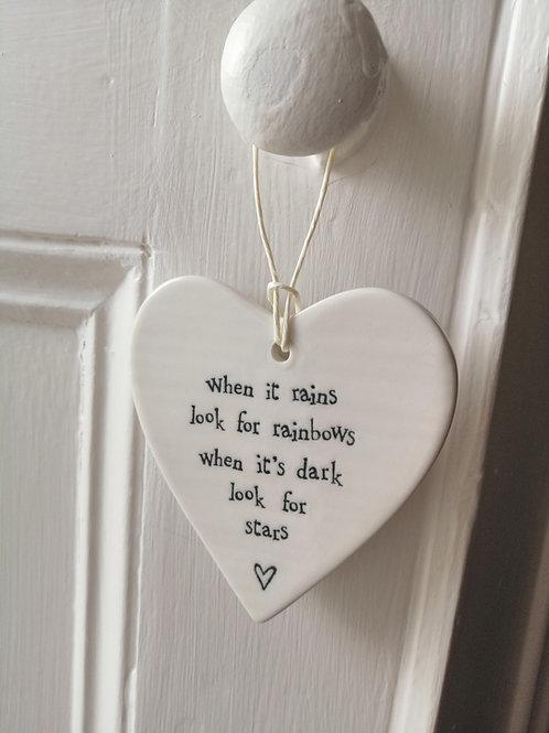 When it rains - Porcelain Heart