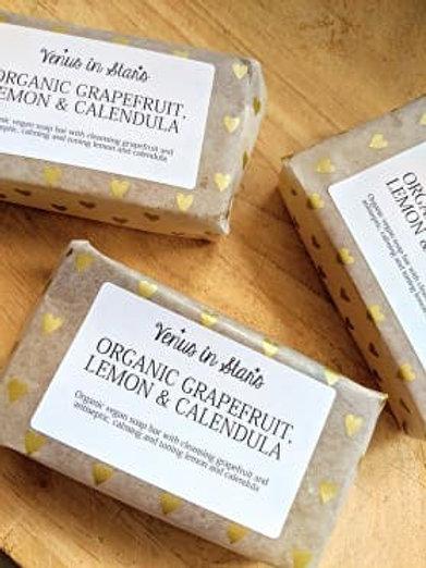 Organic Grapefruit, Lemon and Calendula Soap