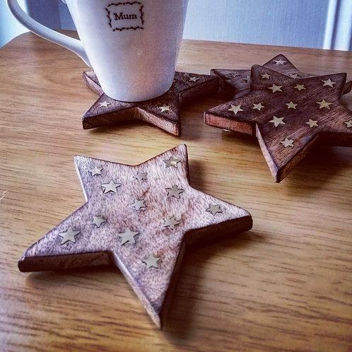 Set of 4 star coasters