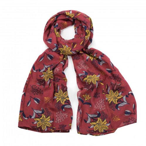 Batik print scarf red