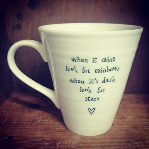 East of India porcelain mug - When it rains