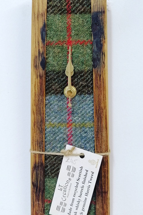 Medium tweed whisky barrel clock