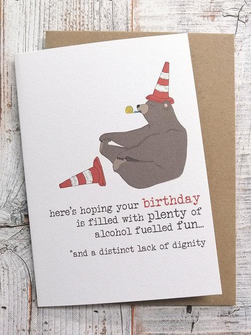 Birthday Card - Alcohol fueled fun
