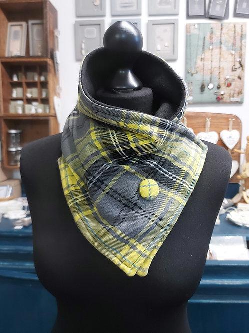 Tartan neck warmer - yellow