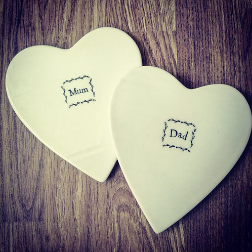 Mum + Dad Porcelain Coasters