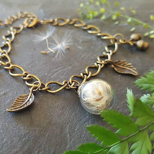 Terrarium bracelet - dandelion